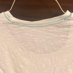 rustic blue Shirts - NWOT White v neck